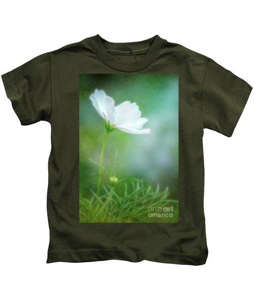 Radiant White Cosmos In The Evening Light Kids T-Shirt