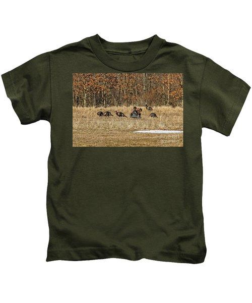 Rafter Of Wild Turkeys Kids T-Shirt