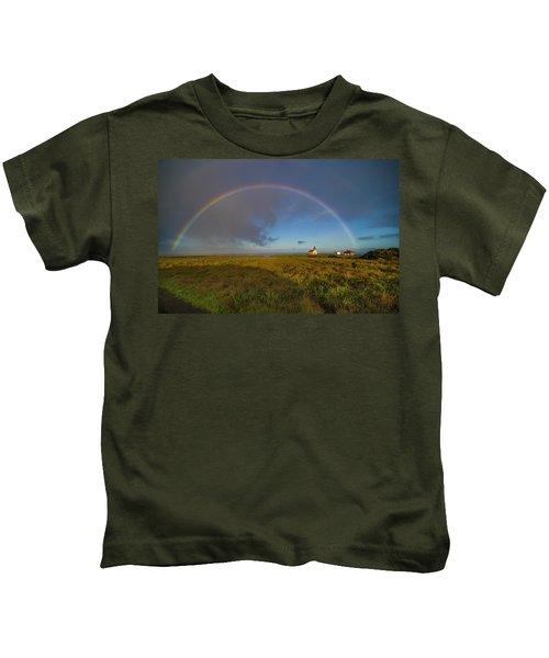 Rainbow At Point Cabrillo Kids T-Shirt