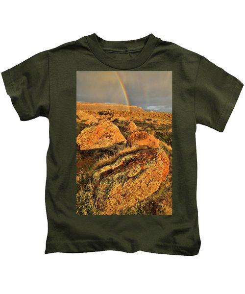 Rainbow Over The Book Cliffs Kids T-Shirt