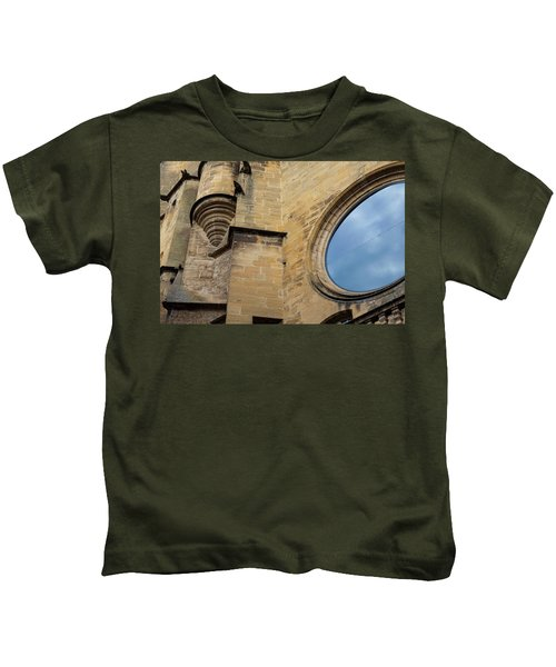 Reflection, Sarlat, France Kids T-Shirt