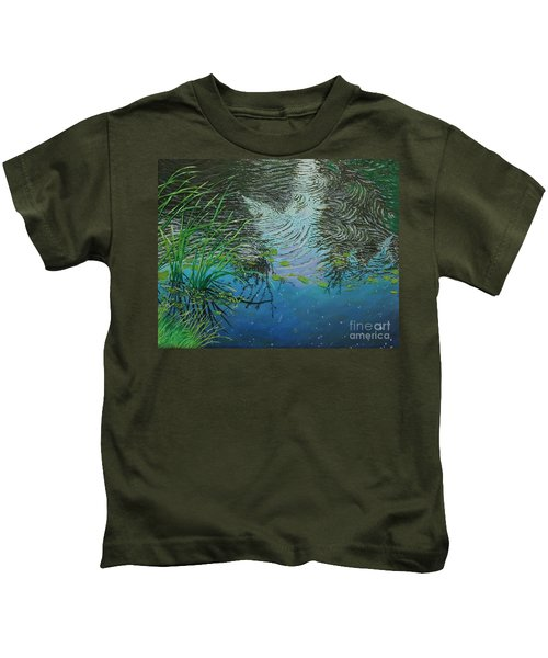 River ...ripples And Reeds Kids T-Shirt