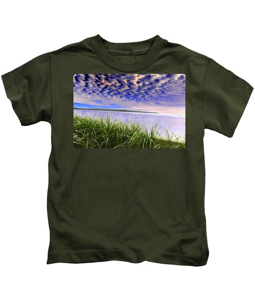 Rolling Blue Sky Over Lake Superior Kids T-Shirt