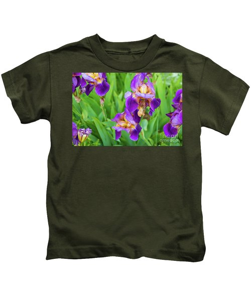 Royal Purple Irise Kids T-Shirt