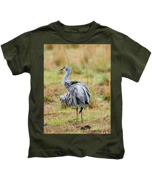 Ruffled Crane Kids T-Shirt