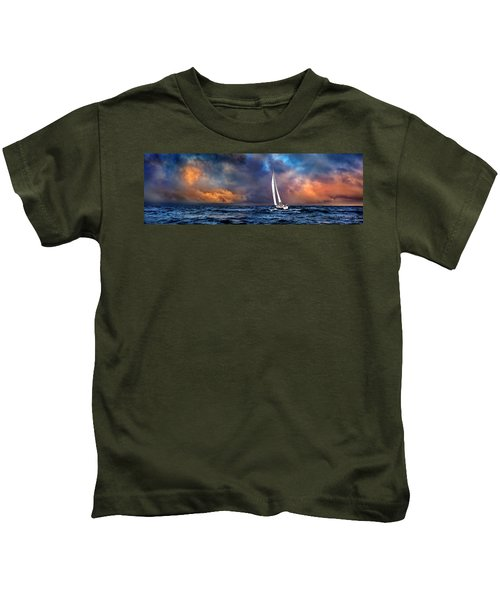Sailing The Winedark Sea Kids T-Shirt