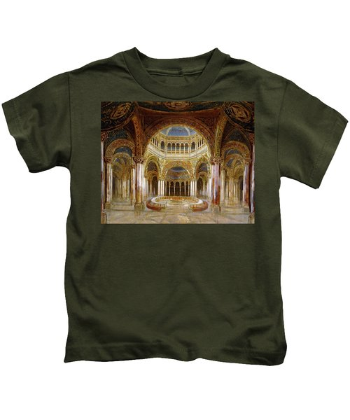 Scenic Design Of The 'gralstempel' In Richard Wagners 'parsifal, 1882. Paul Von Joukowsky . Kids T-Shirt