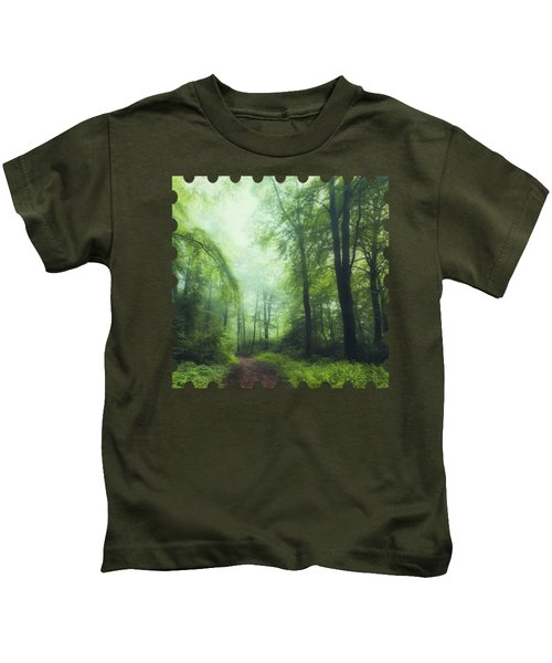 Scent Of Summer In The Forest Kids T-Shirt