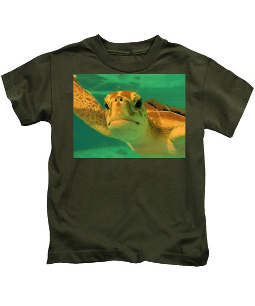 Sea Turtle Off The Mexican Coast - Dwp2086549 Kids T-Shirt