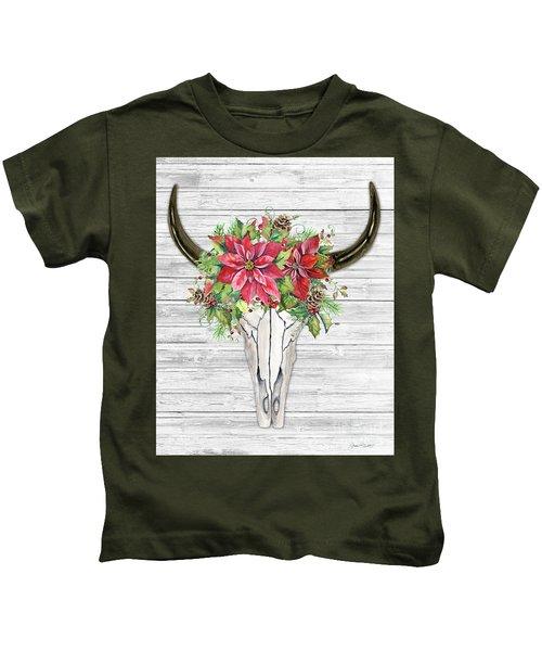 Seasonal Skull Art B Kids T-Shirt