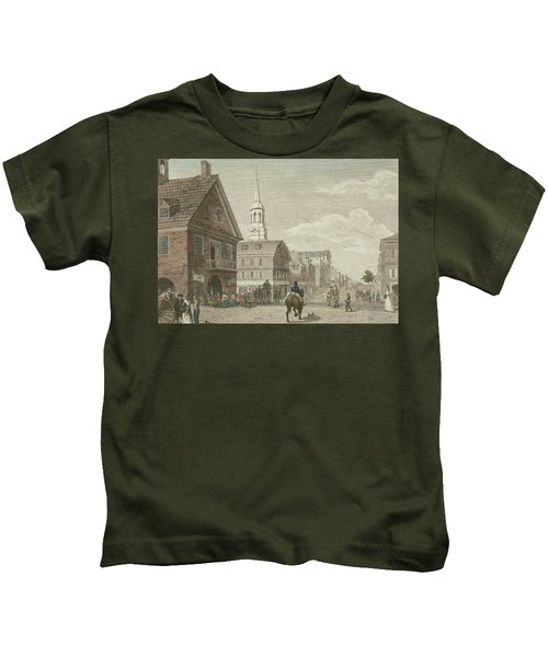 Second Street North From Market St. And Christ Church Kids T-Shirt