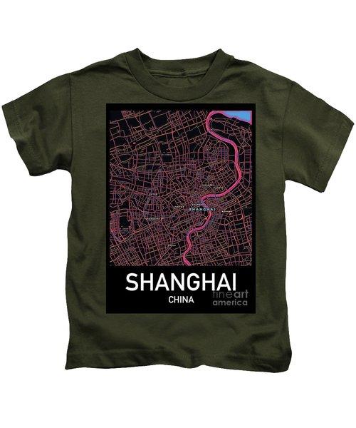 Shanghai City Map Kids T-Shirt