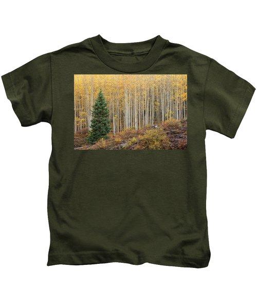 Shimmering Aspens Kids T-Shirt