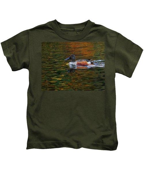 Shoveler On The Move Kids T-Shirt