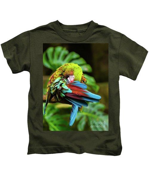 Shy Parrot Kids T-Shirt