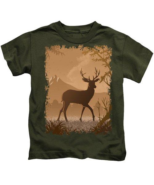 Silhouette Deer Kids T-Shirt