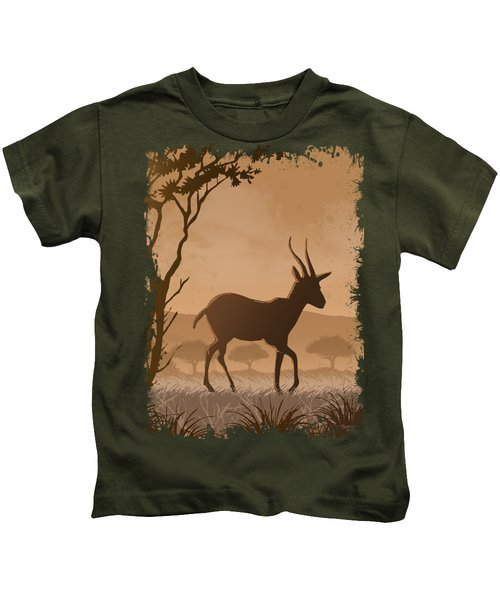 Silhouette Gazelle Kids T-Shirt
