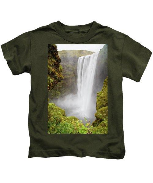 Skogafoss Iceland Kids T-Shirt