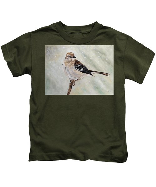 Snowfall Mockingbird Kids T-Shirt