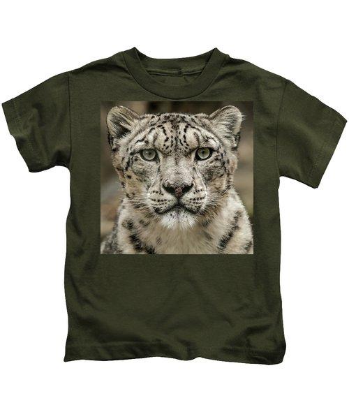 Snowleopardfacial Kids T-Shirt