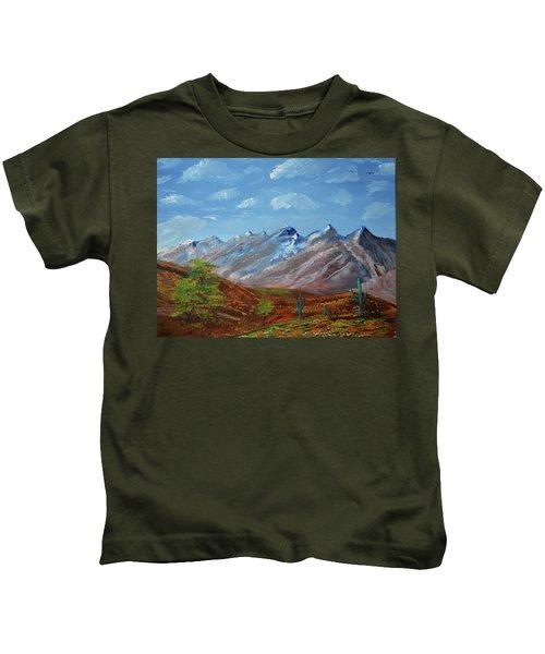 Spring Comes To Southern Arizona Kids T-Shirt