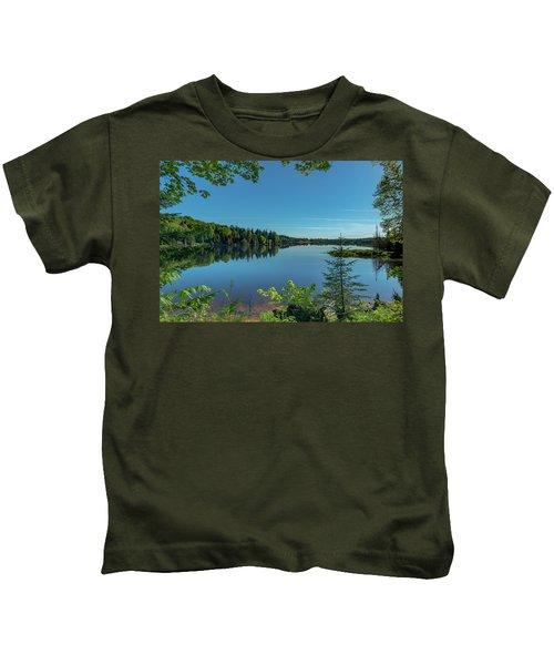 Spring Morning On Grand Sable Lake Kids T-Shirt
