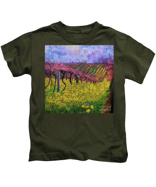 Spring Vineyard Kids T-Shirt