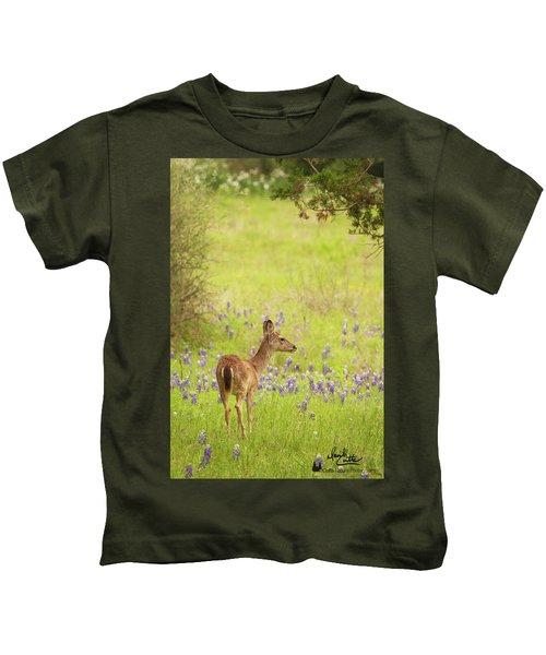 Springtime Whitetail Kids T-Shirt