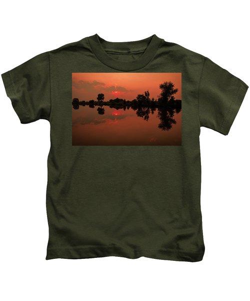 St. Vrain Sunset Kids T-Shirt