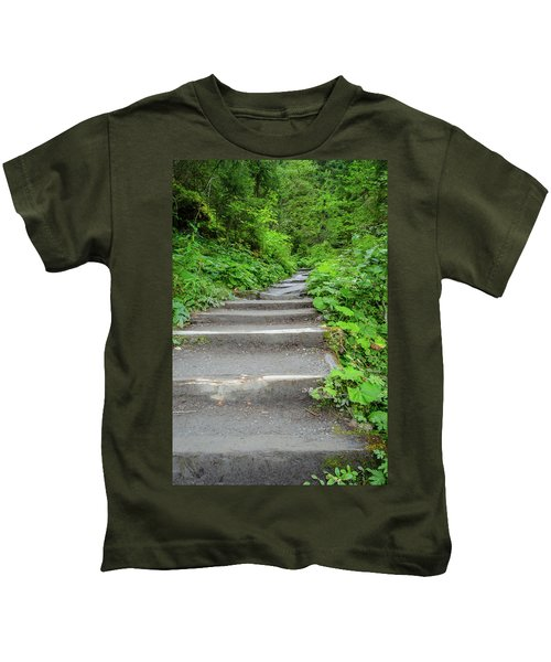 Stairs To The Woods Kids T-Shirt