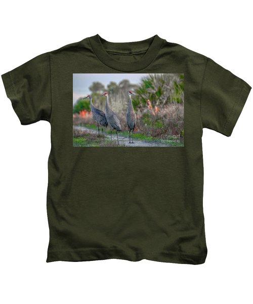 Standing Sandhills Kids T-Shirt