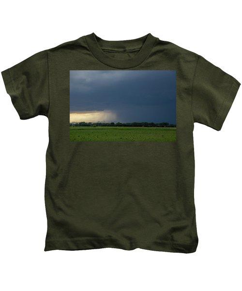 Storm Chasing West South Central Nebraska 002 Kids T-Shirt