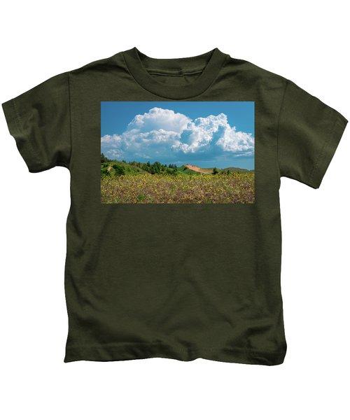 Summer Storm Over The Dunes Kids T-Shirt