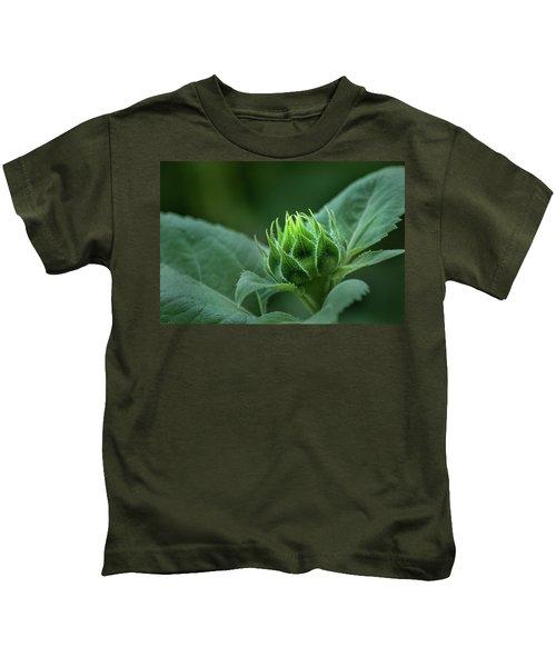 Sunflower Bud Kids T-Shirt