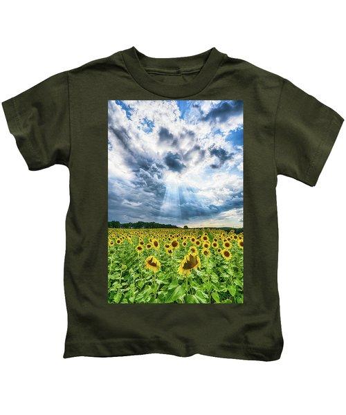 Sunflower Field Kids T-Shirt