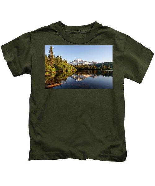 Sunrise In Mt Rainier  Kids T-Shirt