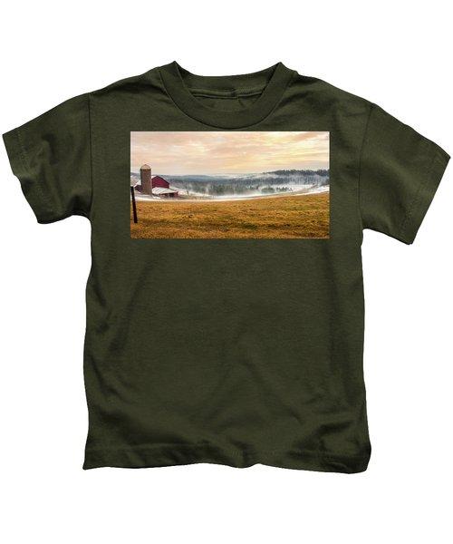 Sunrise On The Farm Kids T-Shirt