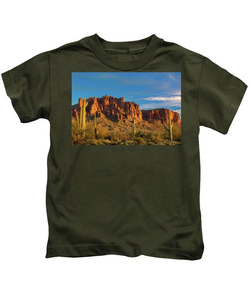 Sunset At Superstition Mountain Kids T-Shirt