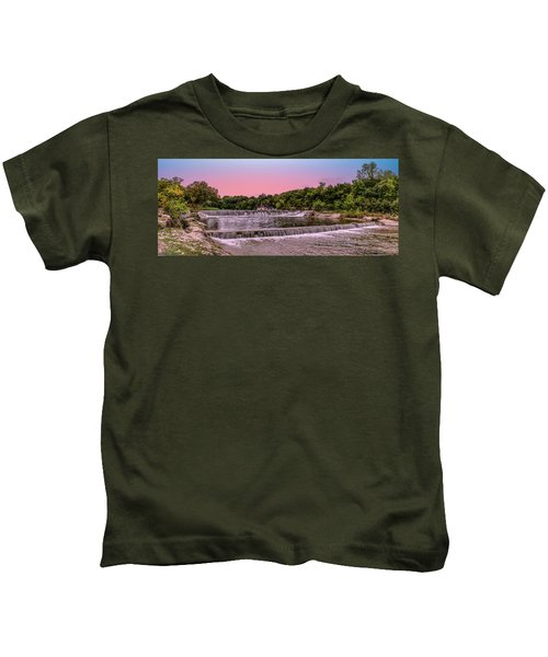 Sunset At The Falls Kids T-Shirt