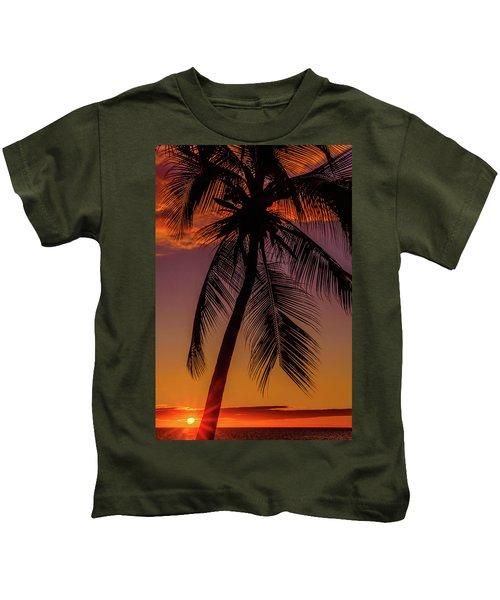 Sunset At The Palm Kids T-Shirt