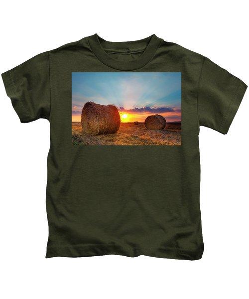 Sunset Bales Kids T-Shirt
