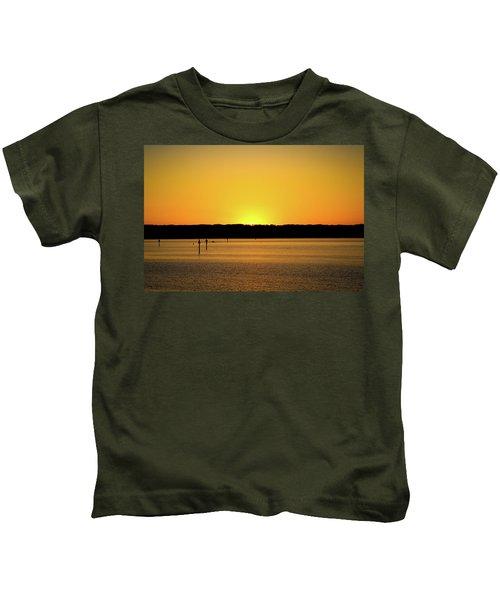 Sunset From National Harbor Kids T-Shirt