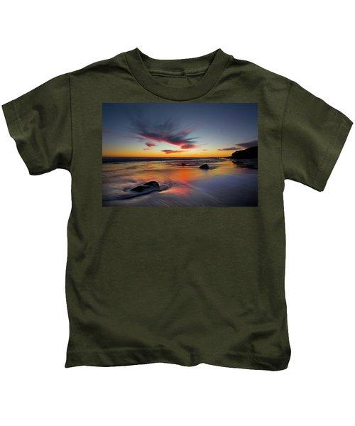Sunset In Malibu Kids T-Shirt