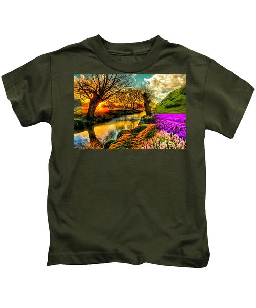 Sunset Landscape Kids T-Shirt