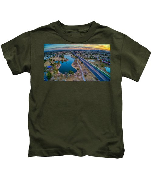Sunset Over Chaparral  Kids T-Shirt