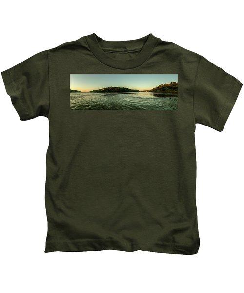 Sunset River Confluence Kids T-Shirt