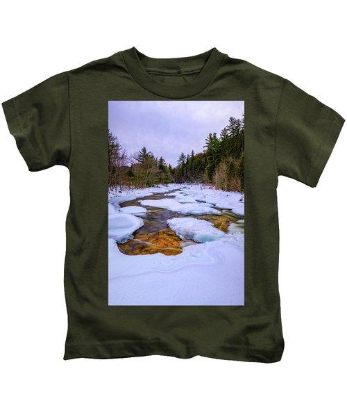 Swift River Winter  Kids T-Shirt