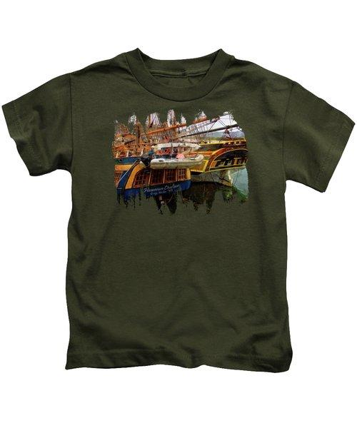Tall Ships In Port Kids T-Shirt