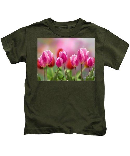 Tall Tulips Kids T-Shirt