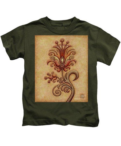 Tapestry Flower 7 Kids T-Shirt